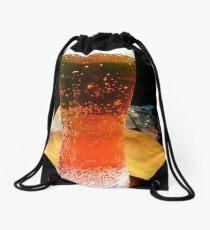 Energy, beer, colors, macro, drink, photography Drawstring Bag