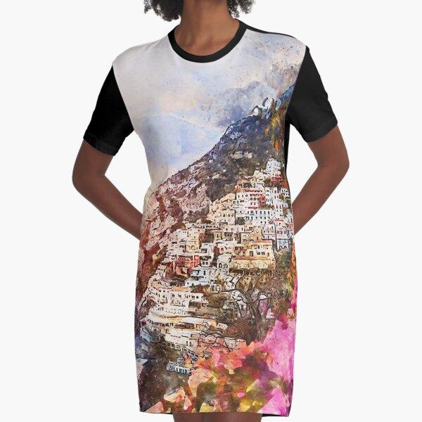 Amalfi, Italy Graphic T-Shirt Dress