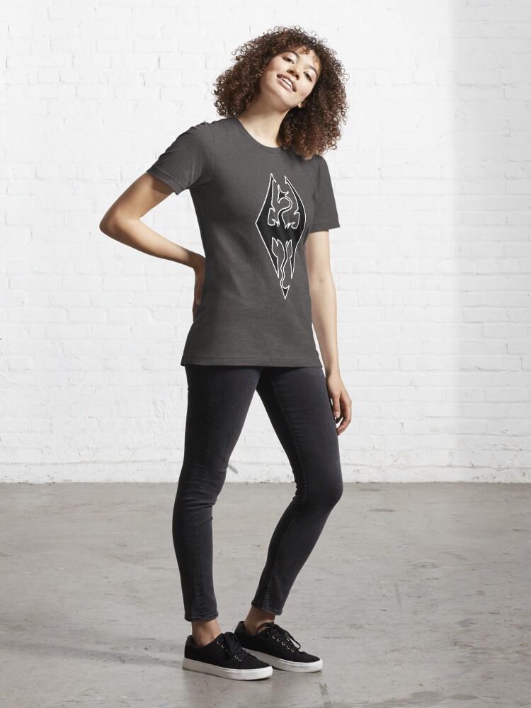 Alternate view of Skyrim logo design Essential T-Shirt