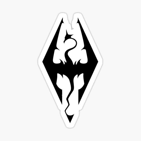 Skyrim logo design Sticker