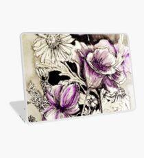 purple flowers Laptop Skin
