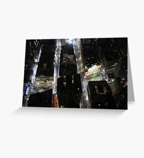 NYC at night from above Greeting Card