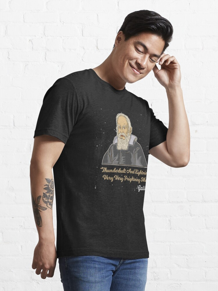 Alternative Ansicht von Thunderbolt And Lightning Galileo - Astronomy And Space Gift Essential T-Shirt