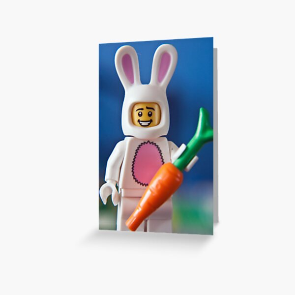 Lego Easter Bunny Greeting Card