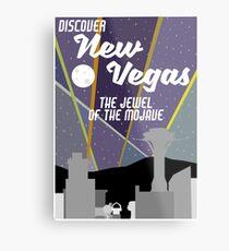 Vintage New Vegas Skyline Metal Print