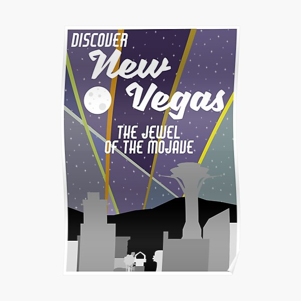 Vintage New Vegas Skyline Poster