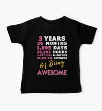 3rd Birthday Shirt | Birthday Countdown | Of Being Awesome Baby Tee