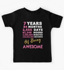 7th Birthday Shirt | Birthday Countdown | Of Being Awesome Kids Tee