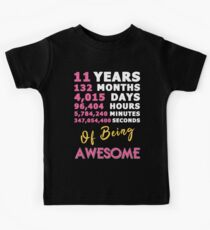 11th Birthday Shirt | Birthday Countdown | Of Being Awesome Kids Tee