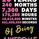 20th Birthday Shirt   Birthday Countdown   Of Being Awesome by wantneedlove