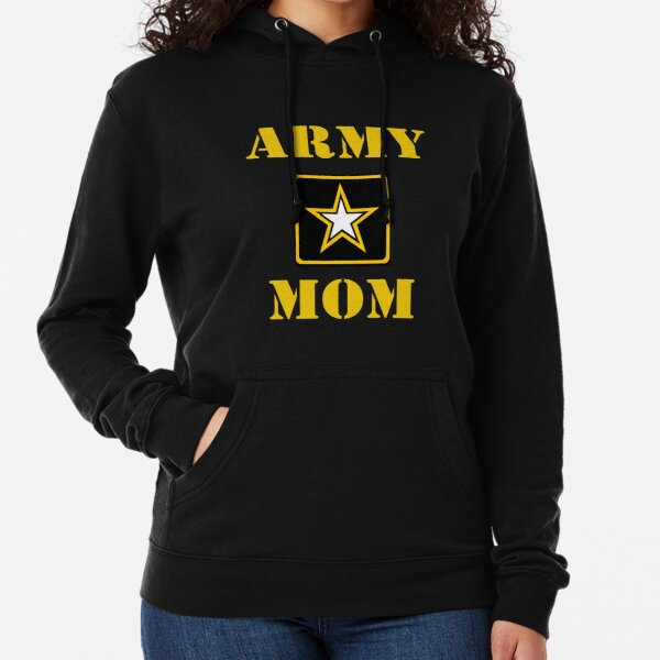 US Military Army Tags USA Flag Gift for Mom Red//black Proud Army Mom Hoodie