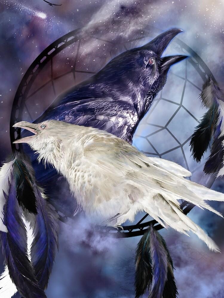 Dream Catcher - Legend Of The White Raven by carolcavalaris