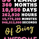30th Birthday Shirt | Birthday Countdown | Of Being Awesome by wantneedlove