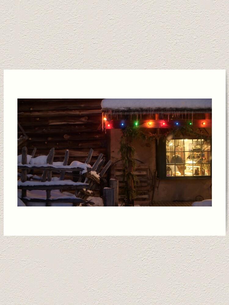 Alternate view of Holiday Lights Art Print