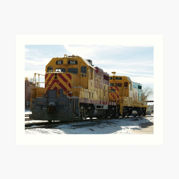 Santa Fe Railroad Art Print