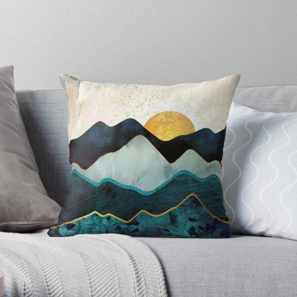 Glacial Hills Throw Pillow