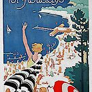 """Vintage """"Germany for Holidays"""" travel poster  by edsimoneit"""