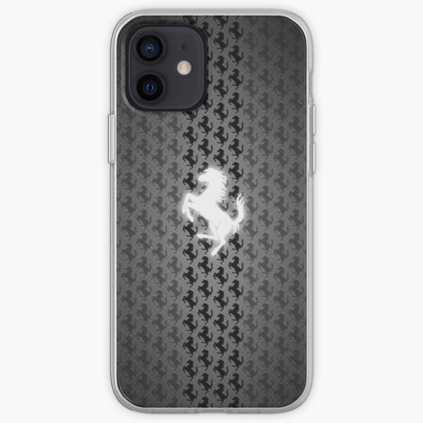 Ferrari Bright Logo Collage Coque souple iPhone