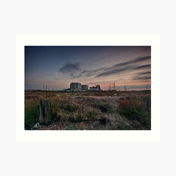 Dungeness Power Station At Sundown Art Print