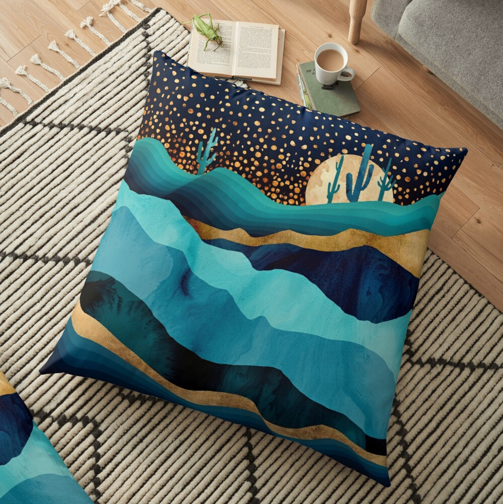 Indigo Desert Night Floor Pillow