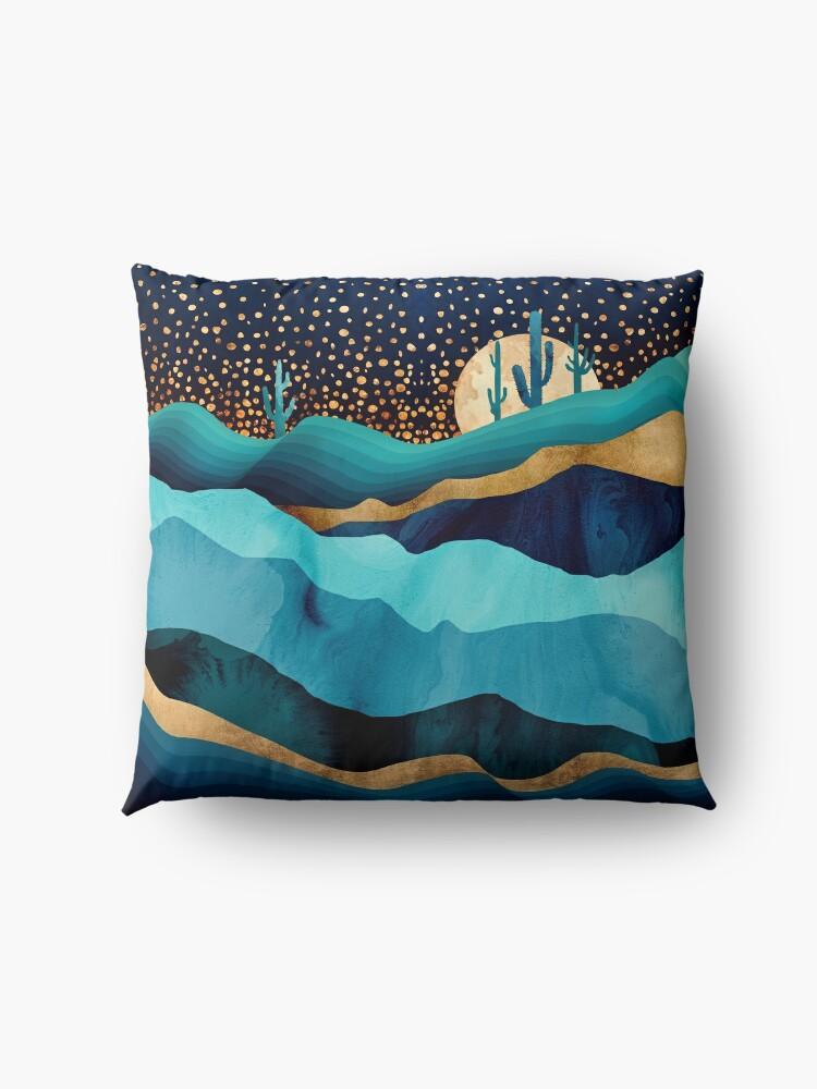 Alternate view of Indigo Desert Night Floor Pillow