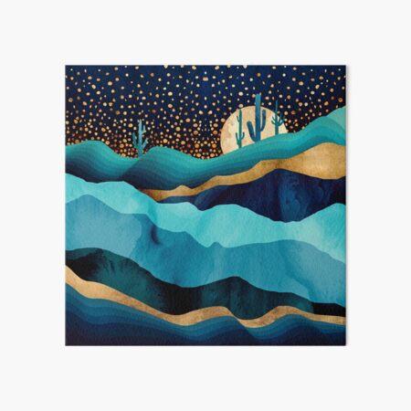 Indigo Desert Night Art Board Print