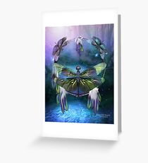 Dream Catcher - Spirit Of The Dragonfly Greeting Card