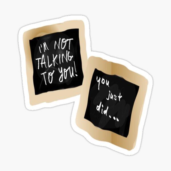 AnnE (avec un E) Tableau noir Sticker