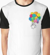Katze mit Paloon Grafik T-Shirt