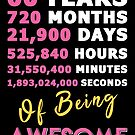 60th Birthday Shirt | Birthday Countdown | Of Being Awesome by wantneedlove