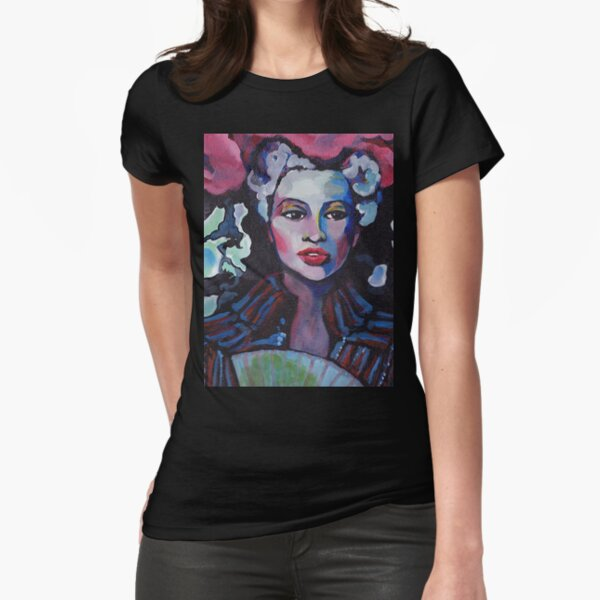 Colorful Lady Tee Fitted T-Shirt