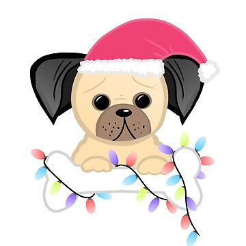 Christmas Pug Design by JTBeginning-x
