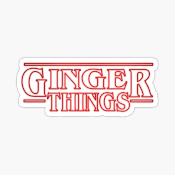 Ginger Things Gift for Redheads Sticker