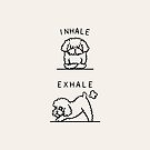 Inhale Exhale Toy Poodle by Huebucket