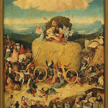 The Haywain Triptych - Hieronymus Bosch by maryedenoa