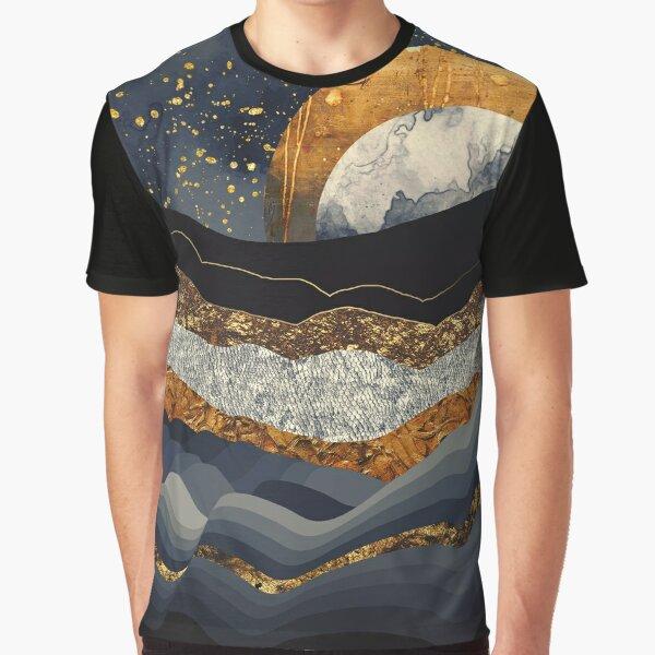 Metallic Mountains Graphic T-Shirt
