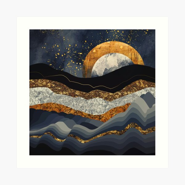 Metallic Mountains Art Print