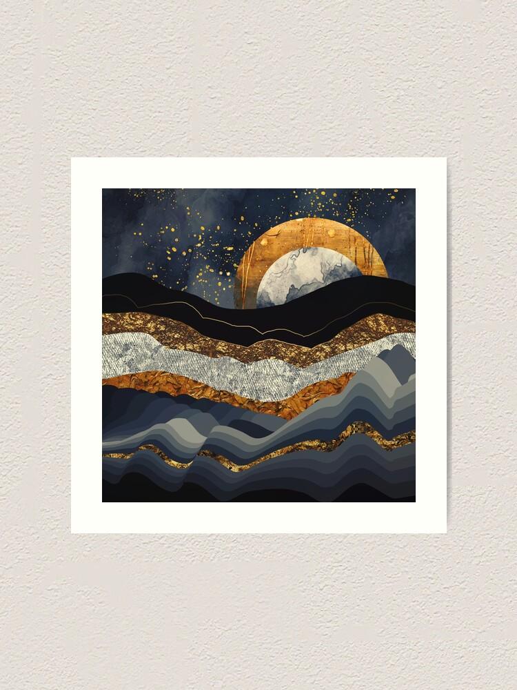 Alternate view of Metallic Mountains Art Print