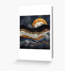 Metallic Mountains Greeting Card