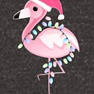 Flamingo - Christmas Flamingo with Santa hat and Lights by JustTheBeginning-x (Tori)