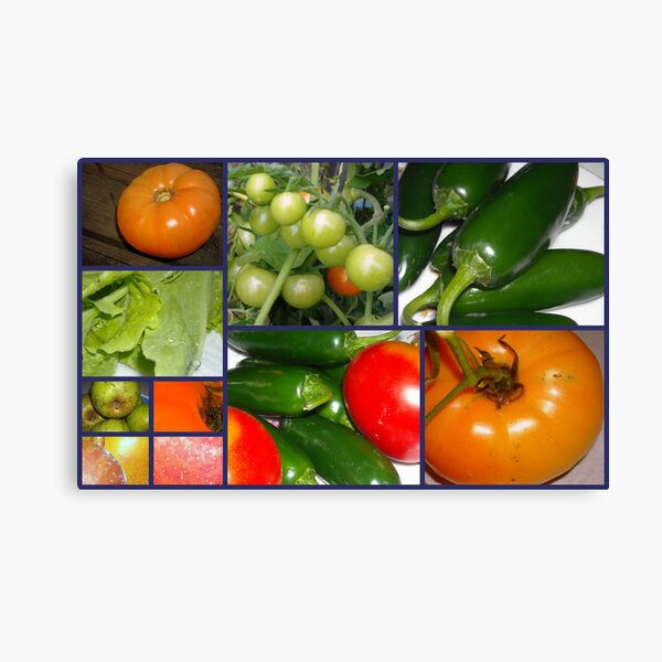 Produce From The Garden Canvas Print
