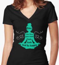 Yoga Lover Women's Fitted V-Neck T-Shirt