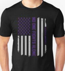 Alzheimer's Awareness Shirts - Alzheimers Awareness American Flag Unisex T-Shirt