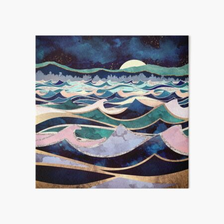 Moonlit Ocean Art Board Print