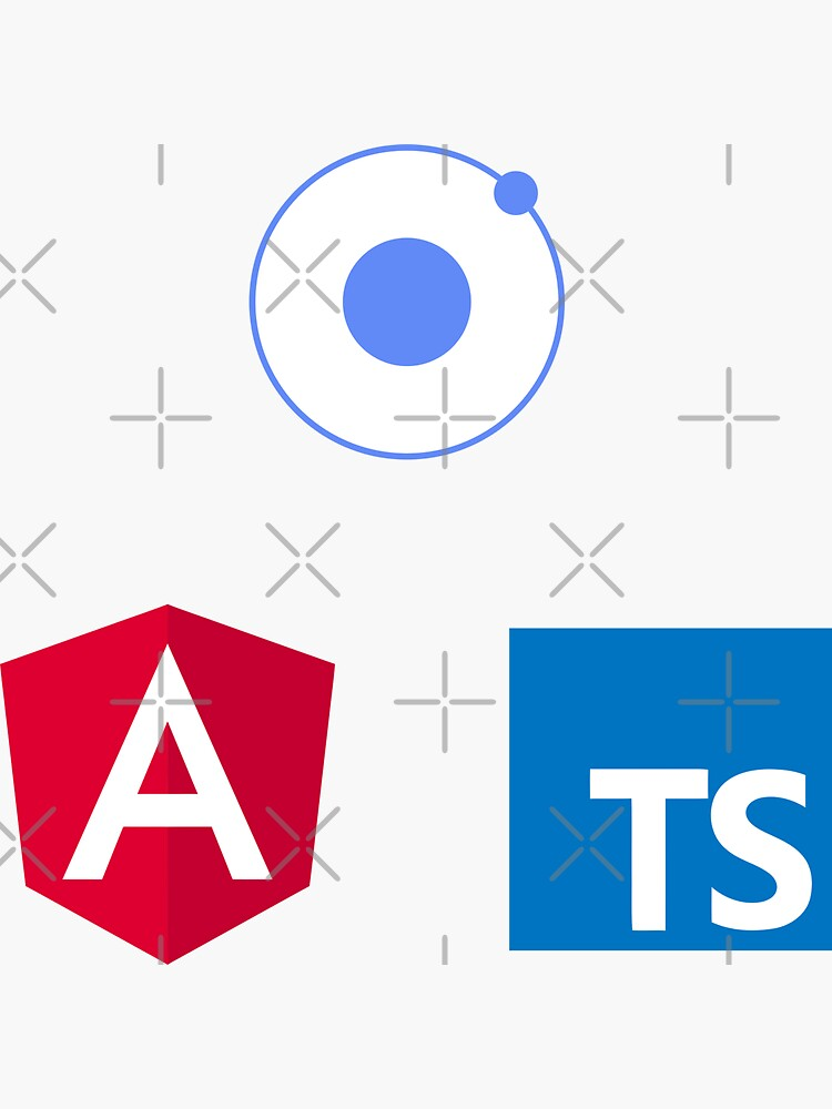 ionic angular typescript logo set de yourgeekside