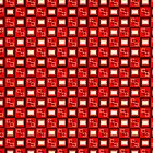 Pattern Cube Red by SandrasArtist