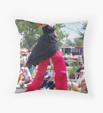 Chick on a Stick! Throw Pillow