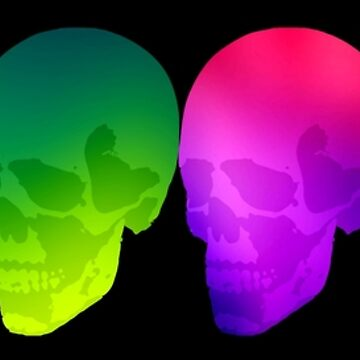 Neon Skull Row by jamden37