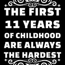 11th Birthday Shirt | 11 Years Old | First 11 Years Funny Tee by wantneedlove