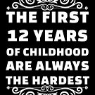 12th Birthday Shirt | 12 Years Old | First 12 Years Funny Tee by wantneedlove